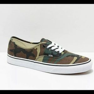 Vans Authentic Woodland Camo Size US 11.5 Men's